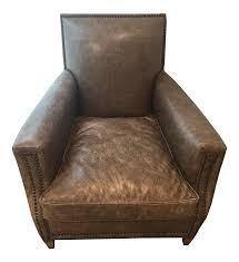 restoration hardware distressed leather chair chairish restoration hardware leather chair and a half