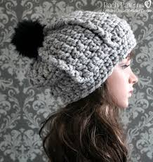 Bulky Yarn Crochet Hat Patterns Unique Easy Ribbed Slouchy Hat Crochet Pattern