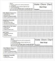 Blank Monthly Chore Chart 30 Weekly Chore Chart Templates Doc Excel Free