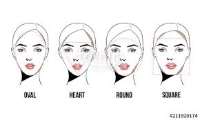 contouring makeup for diffe types of woman s face vector set of diffe forms of female
