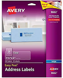 Avery Address Lables Amazon Com Avery Matte Frosted Clear Address Labels For Inkjet