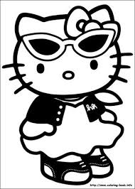 Hello kitty was born on november 1 in the suburbs of london and she lives there with her parents george and mary, and her twin sister, mimmy. Hello Kitty Coloring Book Freshly Picked
