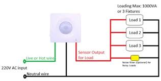 wiring diagram for pir sensor wiring wiring diagrams