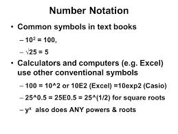 Measurement Exponential Notation Decimal Coefficient Power Of 10