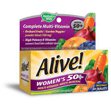 <b>Alive</b>! Women's <b>50</b>+ <b>Multivitamin</b> Daily Supplement, <b>50</b> Tablets ...