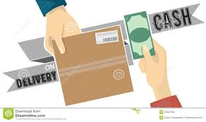 Cash On Delivery,cod Service Vector On Grey Tag Illustration ...