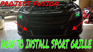 2010 Ford Fusion Fog Light Trim How To Install Lower Sport Grille Ford Fusion