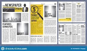 Newspaper Articles Template Newspaper Headline Press Layout Template Of Newspaper Cover