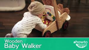 how to make a wooden baby walker
