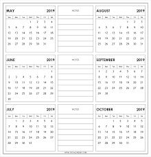 printable 6 month calendar 2019 print 6 month calendar barca fontanacountryinn com