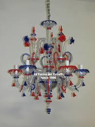 murano glass chandelier minirezzonico bicolor