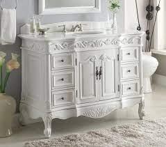 Chans Furniture Victorian White Vanity Vintage Style Cf 3882w Aw 48 Ebay
