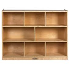 wood storage cabinets. ecr4kids 8 section wood storage cabinet, natural cabinets