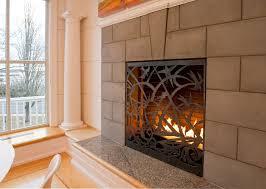 sliding fireplace screen pertaining to design 11
