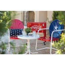 leigh country retro red metal patio