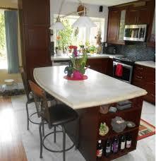 using white concrete countertop mix for more vibrant kitchen colors