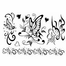 1ks Nový Design Dámské Dočasné Tetování Paže Zápěstí Finger Tetování Motýla Srdce Tetování šperky Tetování 17 16 Cm