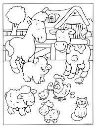 Kleurplaat Boerderij Dieren Koe Kleurplatennl