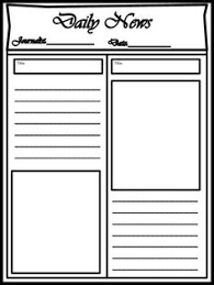Classroom Newspaper Template Class Newspaper Template Tpt Language Arts Lessons Writing