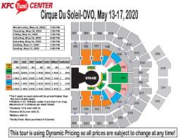 Seating Charts Kfc Yum Center