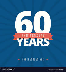 Template Anniversary Card 60 Year Anniversary Card Poster Template