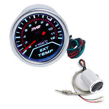 exhaust temp gauge 52mm universal led vehicle exhaust temperature display egt exhaust temp gauge us