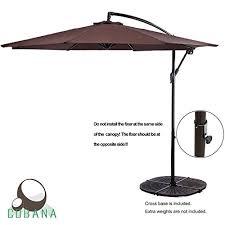 the cobana 10 feet cantilever freestanding patio umbrella review