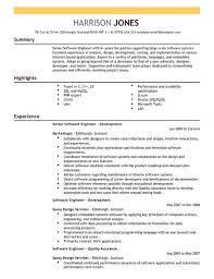 Resume Samples For Software Engineers With Experience Best Software