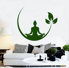 Small Picture Aliexpresscom Buy Yoga Meditation Room Vinyl Wall Stickers