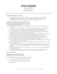 Resume Objective For Nurse – Resume Sample Info