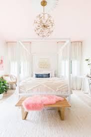 Licht Rosa Dekor Schlafzimmer Farbe Ideen Weiß Für Paare Auf Einem