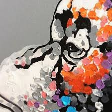 Oil Painting For Living Room Hand Painted Modern Abstract Oil Painting Orangutan Listening To