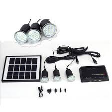 Eco Green Power Low Frequency Dc 30w 12v 7ah Battery With Portable Solar Power Light Kits