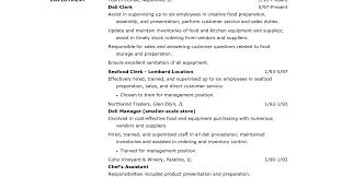 Sample Resume Food Service General Manager Foodfashco Table