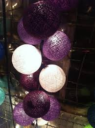 Decorative String Balls Stunning 32 X Purple Shaded Cotton Ball String Light Party Wedding Patio