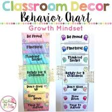 Owl Behavior Clip Chart Growth Mindset Behavior Clip Chart Board Editable Too