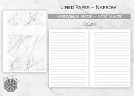 Printable Wide Ruled Paper Adorable Printable Narrow Lined Paper Insert ITEM DG48 Printable Etsy