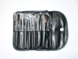 mac makeup mac makeup brush set home u00bb mac black leather makeup brush set