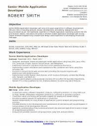 Mobile Application Developer Resume Samples Qwikresume