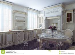 Kitchen Design Vintage Style Classic Kitchen Cabinet In Provence Vintage Style Stock