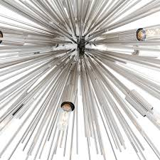 arteriors zanadoo fixed chandelier nickel