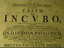 casum de incubo rare medical dissertation on incubus