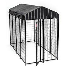 outdoor kennel with weatherproof cover 7 8 l x 3 9 w x 5ft h 2 4