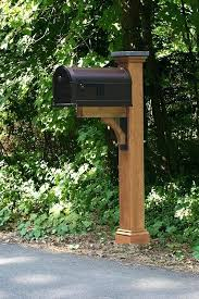 Unique Mailbox Post Idea Cedar Sleeve Cool Ideas tanejasonlinecom