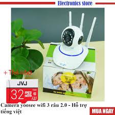 FREE SHIP] Camera yoosee wifi 3 râu 2.0 - Camera giám sát có hỗ trợ tiếng  việt, Kèm thẻ nhớ JVJ PRO Chất lượng cao chính hãng 469,000đ
