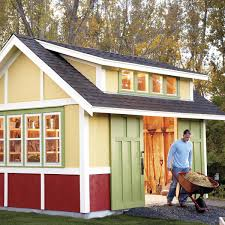 Double Shed Door Design How To Build A Shed 2011 Garden Shed Family Handyman