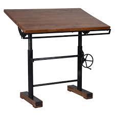 adjustable standing desk crank. Modren Standing Steampunk Industrial Crank Adjustable Standing Desk With