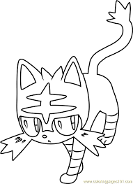 Small Picture Litten Pokemon Sun and Moon Coloring Page Free Pokmon Sun and