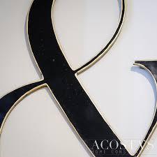 orig 130 metal ampersand wall hanging