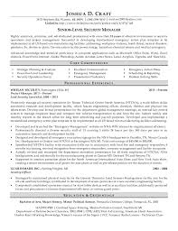 Professional Resume for a Senior-Level Security Manager. JOSHUA D. CRAFT  3875 Stephens Rd, Warren, MI 48091  (586)